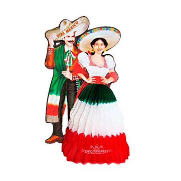 Adorno Mexicano Adelita de papel