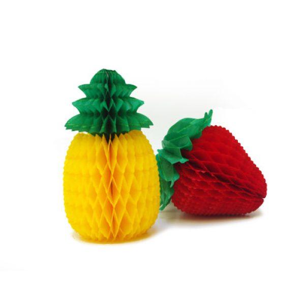 Adorno Frutas Papel Plegable