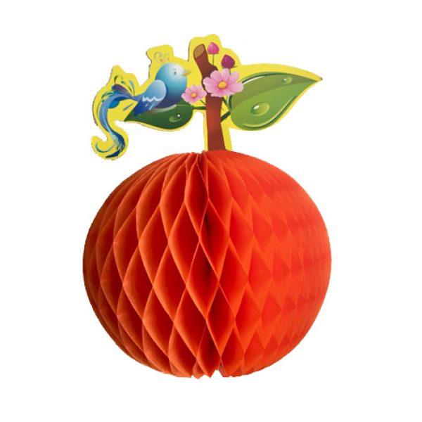 Naranja Papel Picado 3d