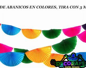Tira de abanicos en colores, Paquete de 30 metros