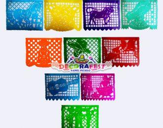Enramada de plástico picado Fiesta Mexicana