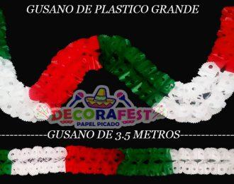 Plástico picado/ Gusano de plástico grande